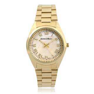 Journee Collection Link Band Round Face Watch