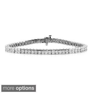 Auriya 14k Gold 5ct TDW Diamond Tennis Bracelet (I-J, I1-I2)