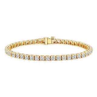 Auriya 14k Gold 2ct TDW Diamond Tennis Bracelet (H-I, I1-I2)