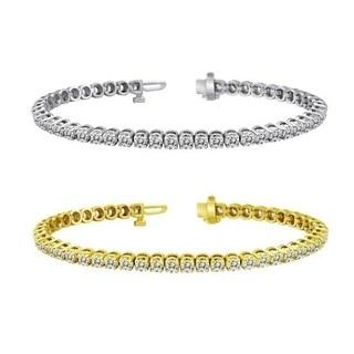 Auriya 14k Gold 3ct TDW Diamond Tennis Bracelet (H-I, I1-I2)