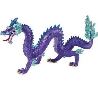 Purple Chinese Decorative Dragon Figure