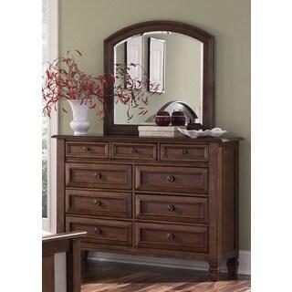 Liberty Bronze Cherry 9-Drawer Dresser and Mirror Set