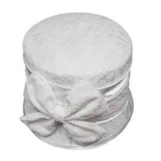 Swan Hat Women's Desing Embossed Velvet Covered White Hat