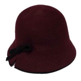 Swan Hat Women's Wool Ribbon Bow Cloche Hat