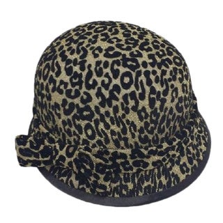 Swan Hat Women's Animal Print Velvet Covered Headpiece