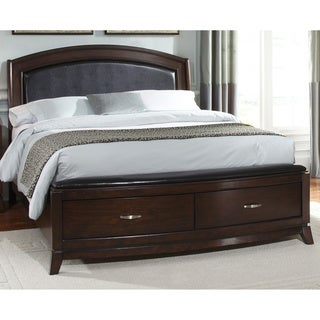Liberty Avalon Dark Truffle Leather Platform Storage Bed