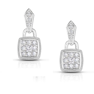 Eloquence 14k White Gold 1/2ct TDW Composite Diamond Dangle Earrings (H-I, SI1-SI2)
