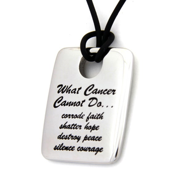 What Cancer Cannot Do Dog Tag Necklace