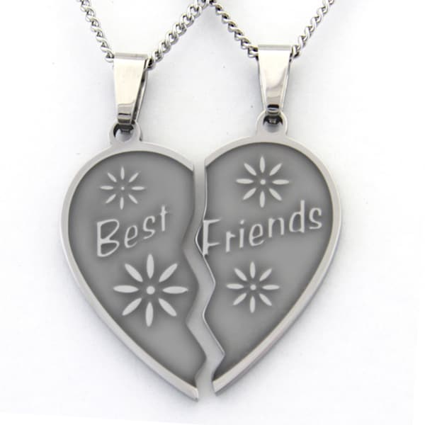 Best Friends Two-piece Heart Necklace