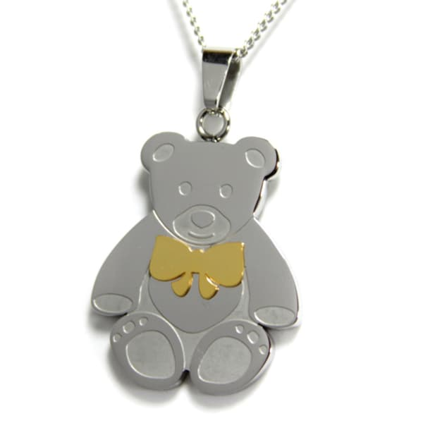 You Are Beary Special To Me Colored Bow Pendant
