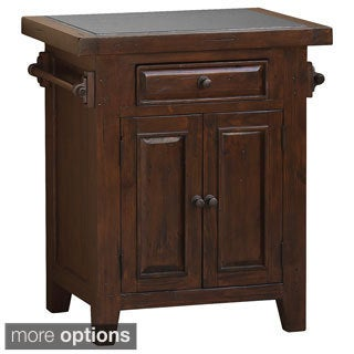 Tuscan Retreat Small Granite Top Kitchen Island