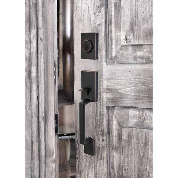 Sure-Loc Stockholm Vintage Oil-rubbed Bronze Front Door Handleset