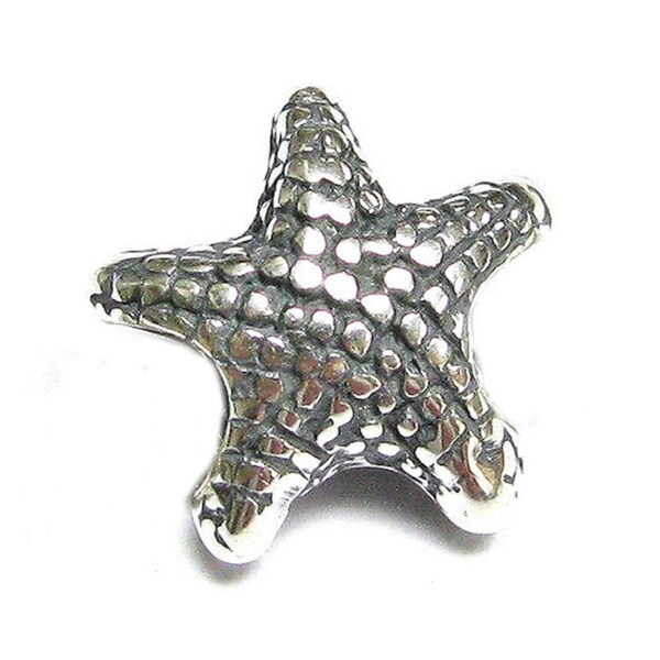Queenberry Sterling Silver Starfish European Bead Charm