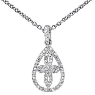 14k White Gold 1/8ct TDW Diamond Fashion Pendant (I-J, I1-I2)
