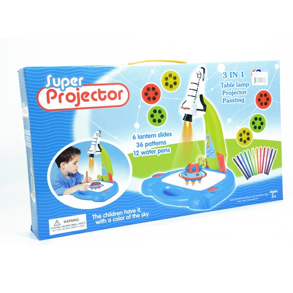 Kids Rocket Ship 3-in-1 Drawing Projector Art Set