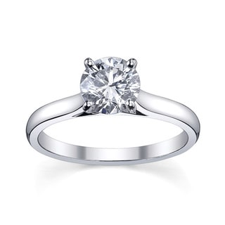 Platinum 1ct TDW Diamond Solitaire Engagement Ring (H-I, SI1-SI2)
