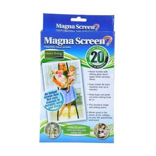 As Seen on TV Magna Screen- Magnetic Mesh Screen An Instant Screen Door Built with 20 Magnets
