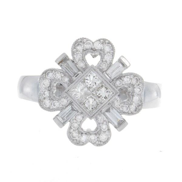 14k White Gold Diamond Invisible Band