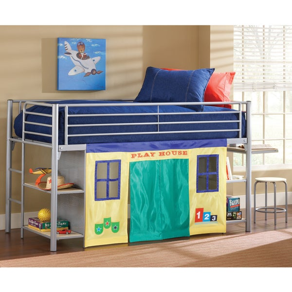 Brayden Junior Loft Bed with Cloth Doors