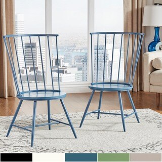 Truman High Back Windsor Classic Side Chair (Set of 2)