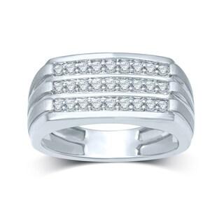 10k White Gold 1/2ct TDW Men's Diamond Ring (H-I, I2-I3)