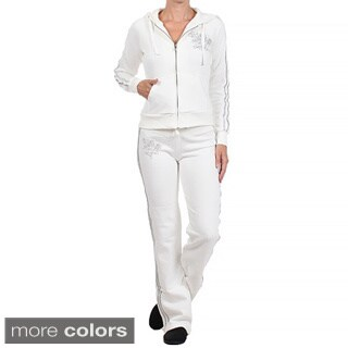 Tabeez Women's Embroidered Sweat Suit