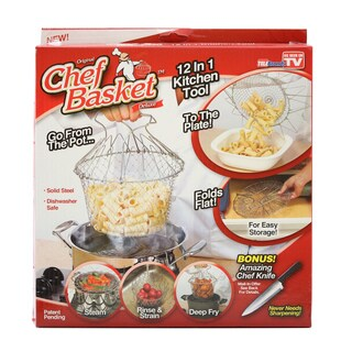 As Seen On TV Chef Basket Deluxe Kitchen Expandable Cooking Colander