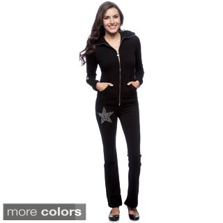 Tabeez Women's Diamond Embellished Track Suit