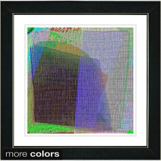 Studio Works Modern 'Weave Series VII Purple' Framed Fine Art Print
