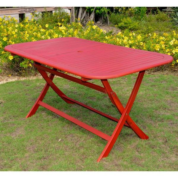 International Caravan Acacia 60 x 34 Rectangular Folding Table