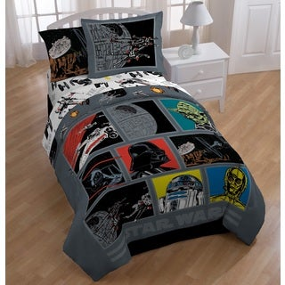Star Wars Death Star 7-Piece Bed in a Bag with Darth Vader Pillow Buddy