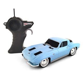 1963 Blue Corvette 1:24 Remote Control Classic Racer