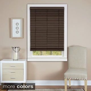 Cordless Madera Falsa 2-inch Faux Wood Plantation Blind