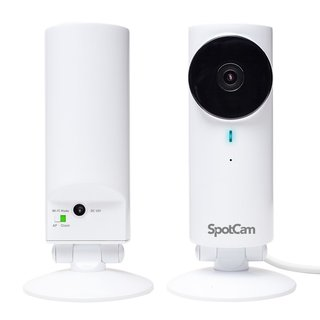 SpotCam HD 720P Cloud Based Wi-Fi Security IP Camera with Free 24-hour Cloud Storage, Night Vision and 2-way Audio