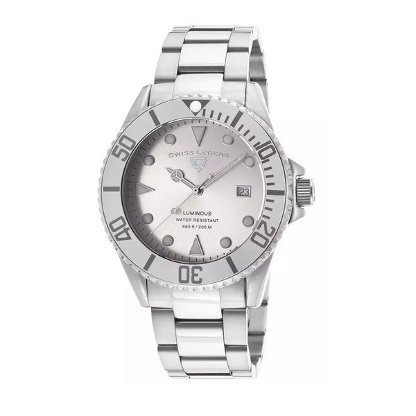 Swiss Legend Men's SL-21344-22S Luminous Silver Watch