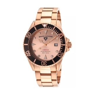 Swiss Legend Men's SL-21344-RG-99-BB Luminous Rose Goldtone Watch