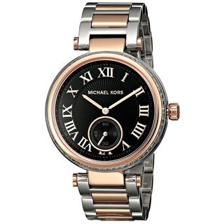 Michael Kors Women's MK5957 Skylar Silver and Rose Gold Tone Watch