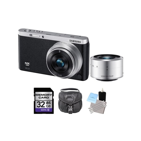 Samsung NX Mini Black Digital Camera w/9 and 9-27mm Lens 32GB Bundle