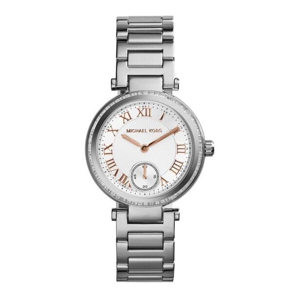 Michael Kors Women's MK5970 Skylar Stainless Steel/ Rose Goldtone Round Dial Watch