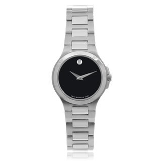 Movado 'Corporate Exculsive' 0606164 Stainless Steel Round Face Link Watch