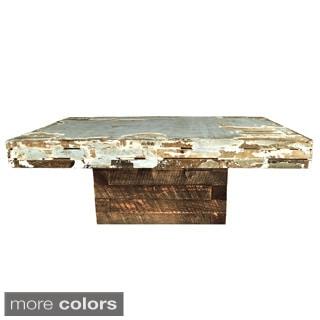Salvaged Wall Panel Wood Coffee Table