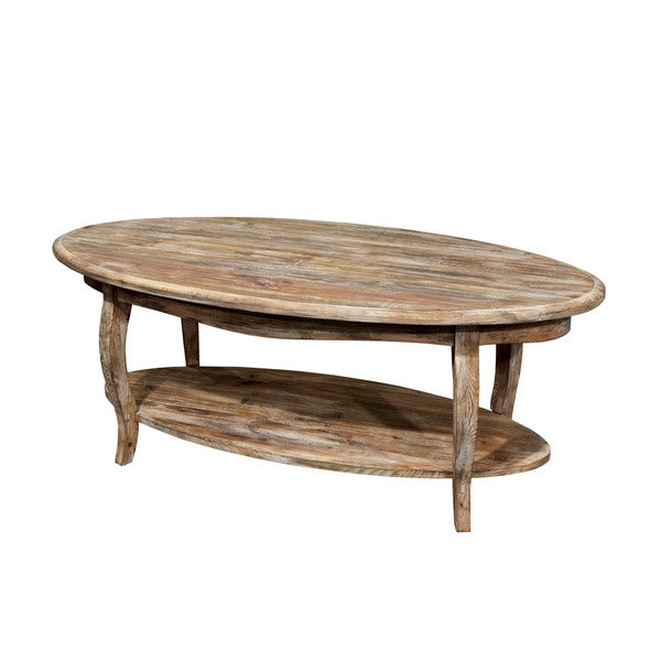 Alaterre Rustic Reclaimed Wood Oval Coffee Table 16806848