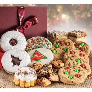 Dulcets Gourmet Christmas Bakery Holiday Assorted Gift Basket