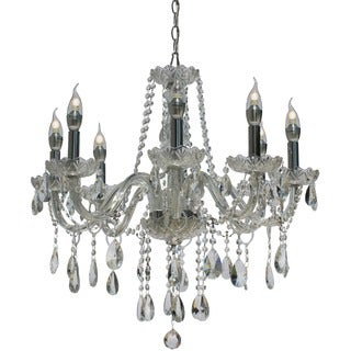 Melissa Elegant Crystal Candelabra 8-Light Chandelier