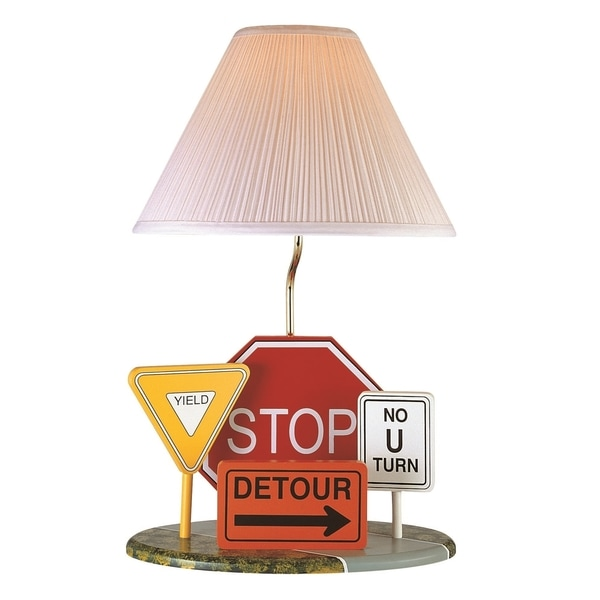 Lite Source Highway Signs 1-light Table Lamp