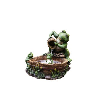 Eternity Tabletop Mother Frog Bathing Family Fountain