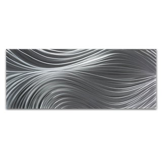 Nicholas Yust 'Passing Currents Composition' Modern Metal Wall Art Print