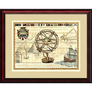 Deborah Bookman 'Nautical Map I' 31 x 25-inch Framed Art Print