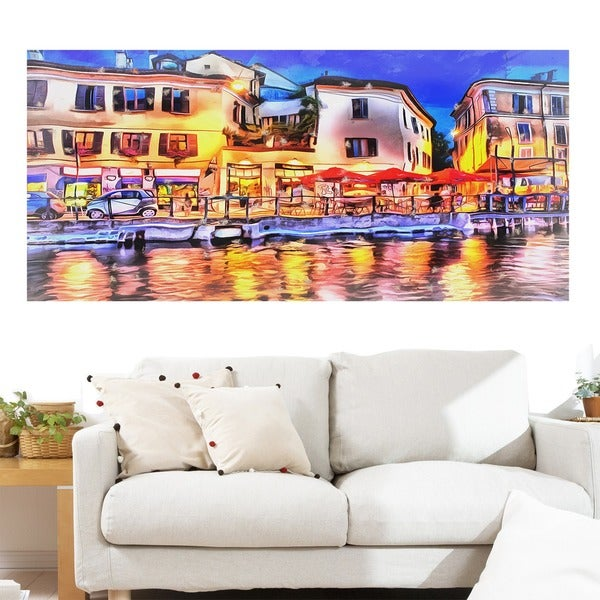 Cafe on the French Riviera' Gallery-wrapped Canvas Art