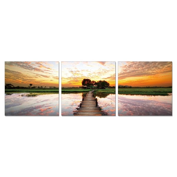 PL Home 'Nature's Hideaway' Medium 3-piece Split-canvas Print